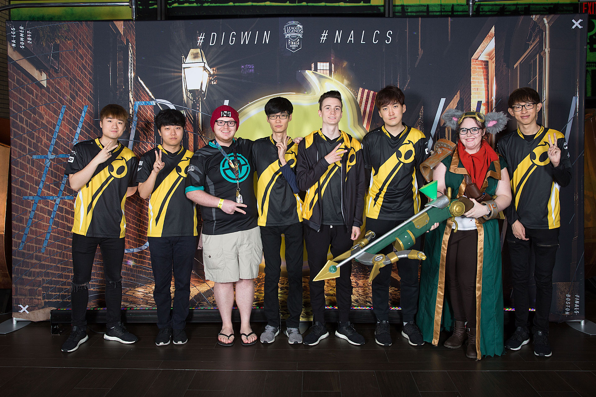 Riot Games League of Legends Photo Station at Legends in TD Garden with Fans
